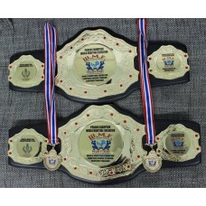 Custom Champion Belts and Medals for Sports Tournaments Wrestling, Grappling, Fantasy Football, Baseball, Softball, Volleyball, Rugby etc