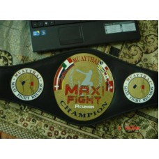 Custom Muay Thai Champion Belt, Kickboxing, Grappling, BJJ, Karate, Judo, Powerlifting Champion Belts