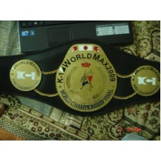 Custom Muay Thai Champion Belt, Kickboxing Champion Belts, Grappling, BJJ, Judo, Powerlifting Tournament Belts